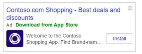 App-Install Anzeigen bei Bing Ads