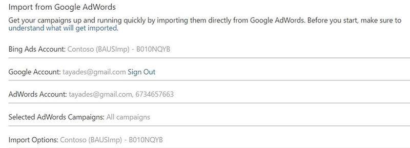 Bing Ads AdWords synchronisatie