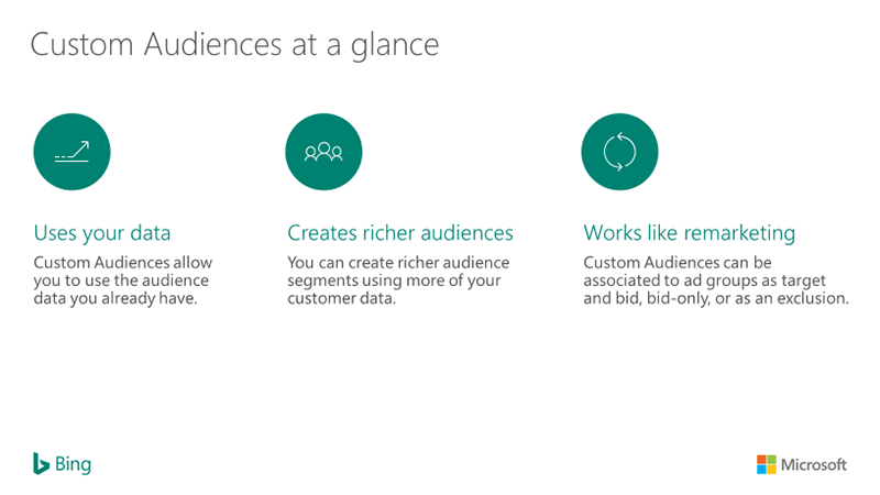 Diagram showing Custom audiences at a glance