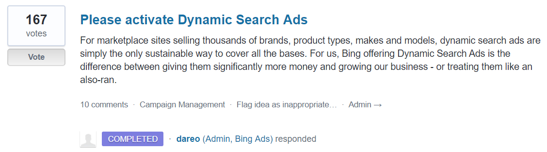 dynamic search ads suggestion forum