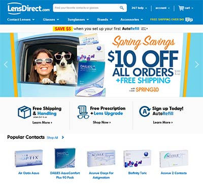 LensDirect.com website