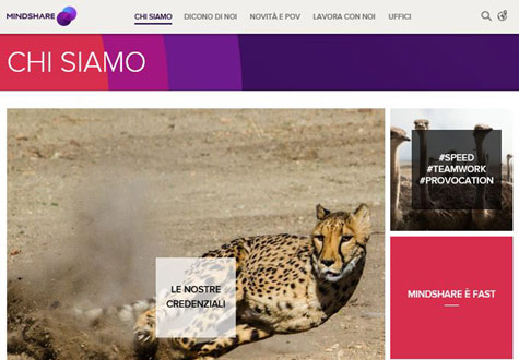 Screenshot of Mindshare website