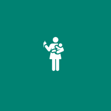 Illustration of a mother bottle-feeding a baby.