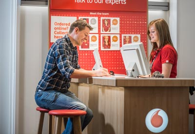 Vodafone store experience