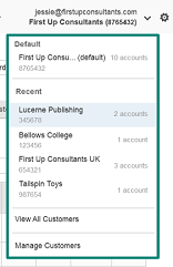 accounts available for user login screenshot