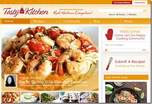 Digital marketing makeover cooking up an online marketing storm some examples of enticing websites made with free to use word press forumfinder Choice Image