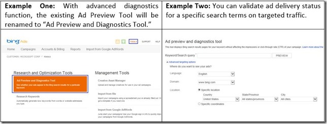 Ad Preview and Diagnostics Tool