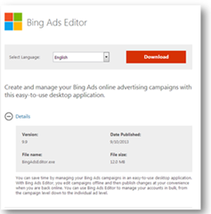 Launch Announcement! Bing Ads Editor v9 9 Now Available
