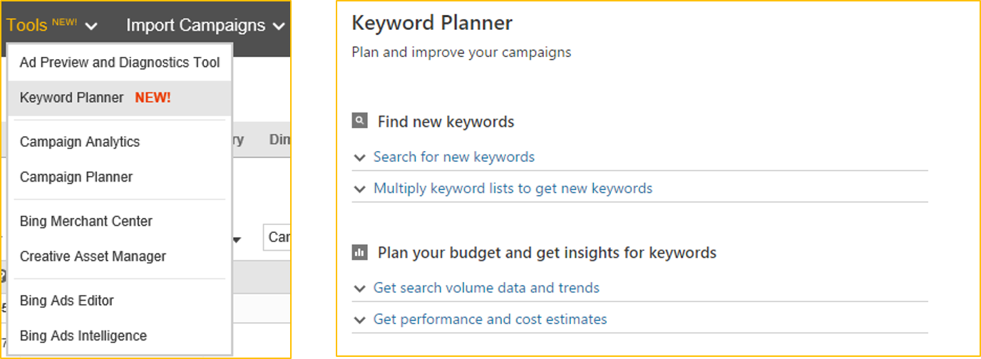optimize your campaigns with our new keyword planner microsoft API Keyword Planner bing ads keyword planner