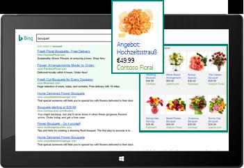 Screenshot einer inhaltsbezogenen Produktanzeige