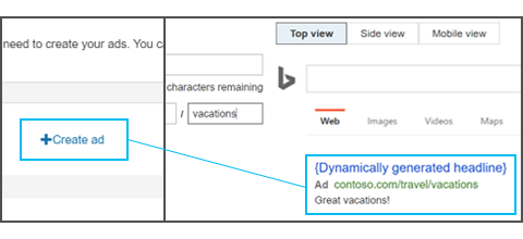 create dynamic search campaign