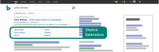 Sitelink-Erweiterungen
