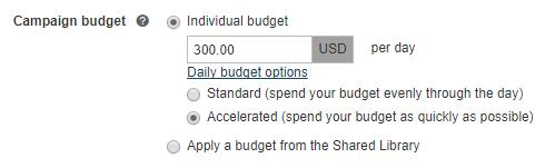 Einrichten Ihres Kampagnenbudgets