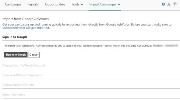 Import Google Ads