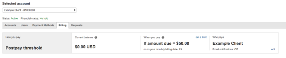 Bing Ads automatically bills you on your billing date, or when your billing threshold is met, whichever comes first