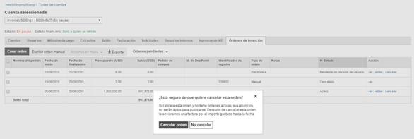 Presupuestos y facturación de Bing Ads