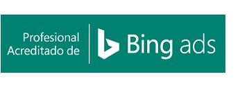 Distintivo de Profesional acreditado de Bing Ads.