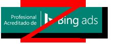 Ejemplo de una sombra prohibida agregada al distintivo de Profesional acreditado de Bing Ads.