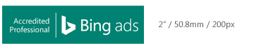 Badge von Bing Ads Accredited Professional in Mindestgröße.