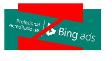 Ejemplo de un giro prohibido del distintivo de Profesional acreditado de Bing Ads.